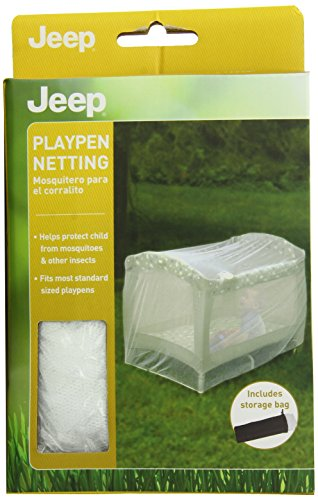 Jeep Playpen Netting, Baby Playpen Net For Weather and Insect Protection, Latex Free, White