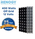 4pcs 100W Watt Total 400W 400Watts Solar Panel Off Grid 12V 24V 48V RV Boat