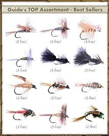 Fly Fishing Flies - Guide's TOP Assortment - BEST SELLERS (35 flies)