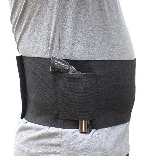 Depring Large Size Concealed Carry Belly Band Pistol Gun Holster Undercover Adjustable Waist Slimming Belt Stomach Abdominal Weapons Knife Phone