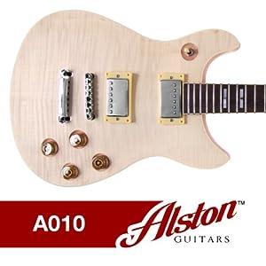 Alston Guitars - DIY Electric Guitar Kit   Set-In   Solid Mahogany Body Neck Flamed Maple Veneer