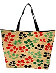 Snoogg Seamless Pattern With Leaf Waterproof Bag Made Of High Strength Nylon