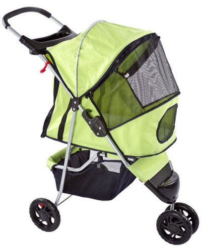 Green Pampered Pet Jogging Stroller For Small Dogs And Cats front-403948
