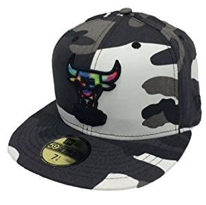 New Era 59Fifty Camcolor Swirl Chicago Bulls Urban Camo Fitted Cap by New Era