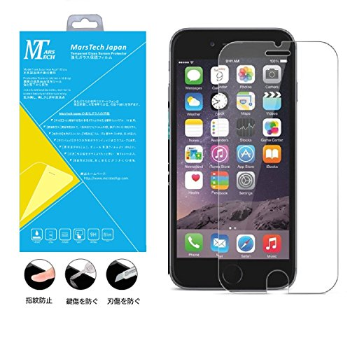 MarsTech Iphone 6 Iphone 6s 強化 ガラス 保護フィルム 日本製ガラス素材 2.5D ラウンドエッジ加工 気泡ゼロ 高透明度