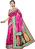RB Sarees Embriodered Deep Pink Coloured 100% Pure Silk Saree with O-Para Border and Anchal