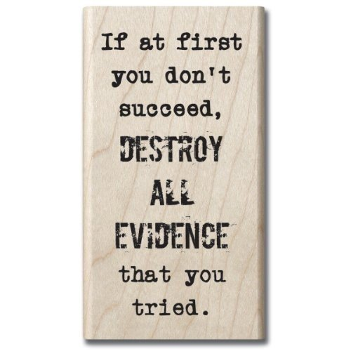 Hampton Art Expressions Rubber Stamps, Destroy All Evidence