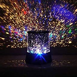 New Colourful Stars Cosmos Style Projector Light Lamp AA Battery Projection Night Lights