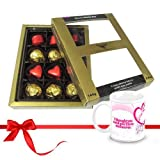 Valentine Chocholik Luxury Chocolates - Well-made Combination Of Wrapped Chocolates With Love Mug