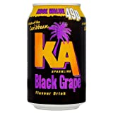 KA Sparkling Black Grape Flavour Drink 330ml (Packung 24)