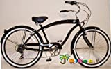 "Micargi Rover 7-speed 26"" for men (Glossy black), Beach Cruiser Bike Schwinn Nirve Firmstrong Style"