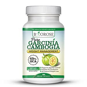 1 Pure Garcinia Cambogia Extract 500mg 180 Veggie Capsules - The No1 Supplement For Fast Natural Weight Loss - High Quality With 65 Hca - Weight Loss Diet Supplement Pills Bonus 69 Page Ebook With Diets Tips Recipes - Biorose from BioRose
