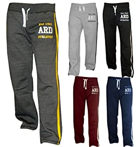 Men's Fleece Joggers Track Suit Bottom Jogging Exercise Fitness Boxing MMA Gym Sweat Fleece Trousers (Black, Small)