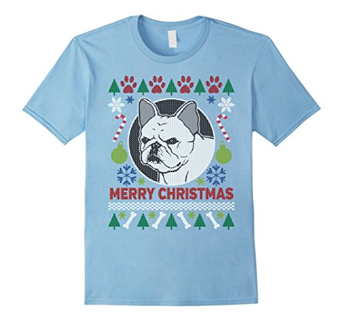 Men's French Bulldog Breed Owners Ugly Christmas T-shirt Large