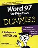 Word 97 for Windows for Dummies (076450052X) by Gookin, Dan