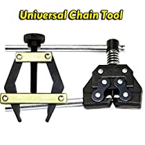 Roller Chain Tools Kit, Chain Holder/Puller+Breaker/Cutter For #25-60, Bicycle/Motorcycle/Go Kart