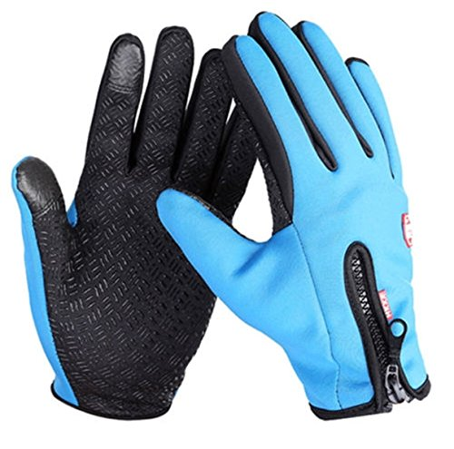 1Pcs (1 Pair) Utopian Chic Waterproof Touch Screen Warm Glove Soft Feeling Motorcycle Decor Hand Decoration Size M Colors Blue (Deerskin Chopper Mittens compare prices)