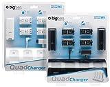 Big Ben Quad Charger Wiimote - Cargador (220 V, Ni-Mh, 700 mAh, Color blanco, 0.593 kg, Nintendo Wii)
