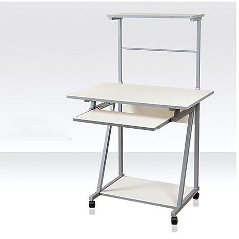 ajustable Escritorio simple de la computadora de escritorio Hogar del cuaderno con la tabla simple Mesa movible de la cabecera Tabla de la combinación del dormitorio (blanco) (los 121 * 60cm) Se puede girar