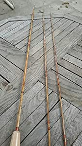 """Flamed Bamboo Fly Rod,6'6"""" #3 ,2 Piece with 2 Tips from zhurod"""