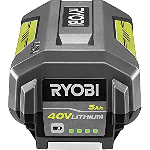 Ryobi OP4050A 40-Volt Lithium-Ion 5 Ah High Capacity Battery (Color: Black, Grey)
