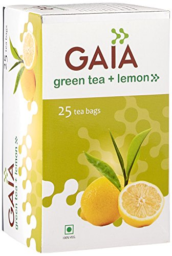Gaia Green Tea Lemon 25 tea bags