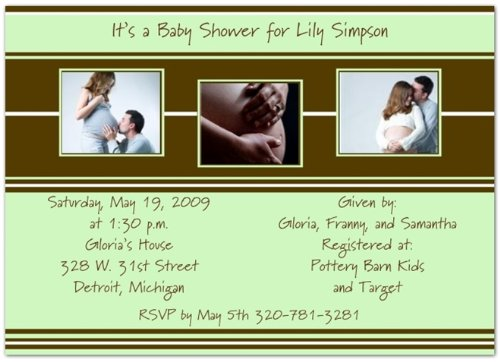 Style In Three Mint & Brown Baby Shower Invitations - Set Of 20 front-999990