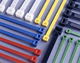140mm x 3.6mm Blue Cable Ties (pack of 10)