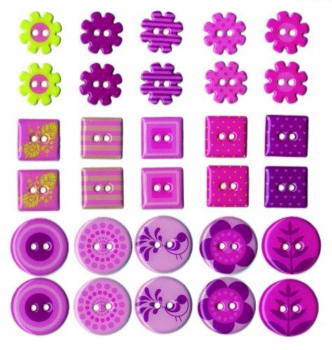 artemio-bottoni-30-pezzo-in-resina-epossidica-girl-multi-colore