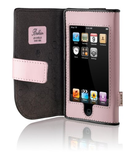 Belkin iPod Touch Leather Folio - Cameo Pink/Chocolate