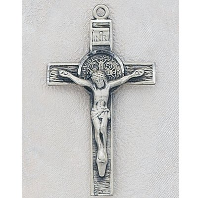 Sterling Silver St. Benedict Crucifix Cross Medal with 20
