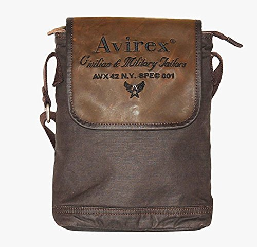 Borsello Avirex | D-Day | AVXDDYF06AI1516-Dark Brown
