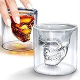 2016 New Creative Designer Skull Head Shot Glass Fun Doomed Transparent Party Doom Drinkware Gift for Halloween 4 sizes (75ml)