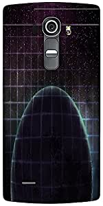 Snoogg Dark Planet Space Background Designer Protective Back Case Cover For LG G4