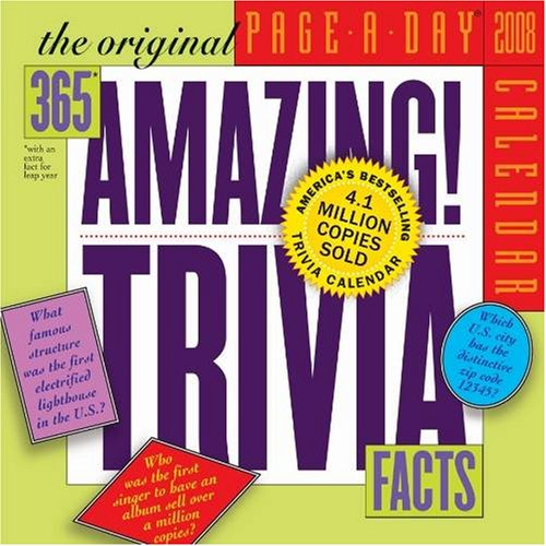 The Original 365 Amazing Trivia Facts 2008 Page-A-Day Calendar - Buy The Original 365 Amazing Trivia Facts 2008 Page-A-Day Calendar - Purchase The Original 365 Amazing Trivia Facts 2008 Page-A-Day Calendar (2008 Calendars, Office Products, Categories, Office & School Supplies, Calendars Planners & Personal Organizers, Desktop Calendars & Supplies, Desk Calendars)