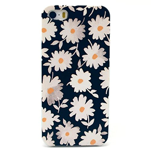 White Daisy Clear Bumper Phone Case [Customizable by Buyers] [Create Your Own Phone Case] Slim Fitted Hard Protector Cover for iPhone 6