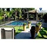 Sentry Safety Pool Fence EZ-Guard 4' Tall 12' Long Removable Child Barrier Pool Safety Mesh Fence (Black)