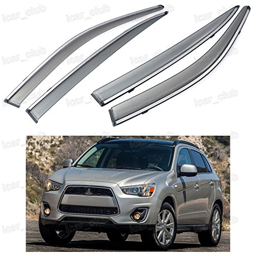 4x Front & Rear Window Visor Vent Shade for Mitsubishi Outlander Sport 2011-2016 (Window Visor Mitsubishi compare prices)