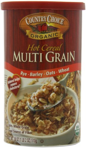 Country Choice Organic Multi Grain Hot Cereal, 18 Ounce Canisters (Pack of 6)