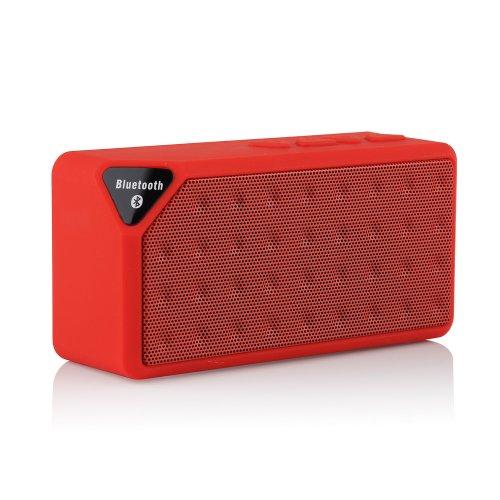 VicTsing Tragbare Mini-Wireless-Bluetooth-Lautsprecher mit Akku - Support TF-Micro-SD-Karte, freies 3,5-mm-AUX-Line-in-Kabel, mit Mikrofon für iPhone 5S 5C 5 4 4S iPad iPod, Samsung Galaxy Note 3 2 S5 S4 S3, HTC One M7 M8 , Sony Xperia Z1 L39H Z Ultra-XL39h Z2, Laptop Tablet PC und alle Bluetooth-Geräte - Freisprechbetrieb und Akku