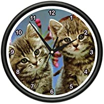 KITTENS Wall Clock kitten cat lover pet breeder gift