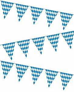 Oktoberfest Pennant Banner Party Accessory (1 count) (1/Pkg) by Beistle