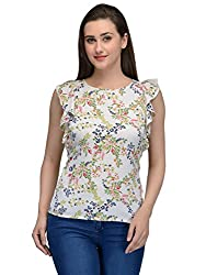 white floral top with butterfly sleeves