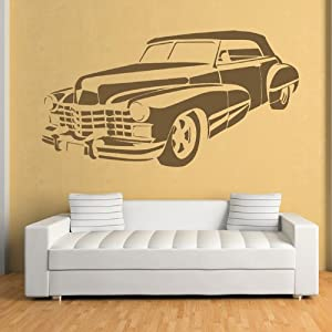 Cadillac Pegatina de Pared. Arte de Pared Coche disponible en 5 tamaños y 25 colores por IconWallStickers