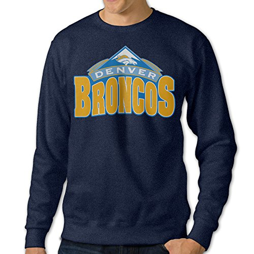 [Mooy Men's Best Denver Broncos Logo Sweater Size 3X Navy] (Road Cone Costume)