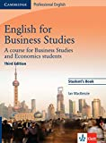 English for Business Studies - Third Edition / Student's Book
