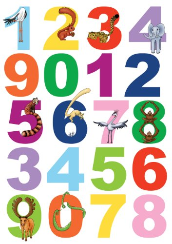 Brewster Spirit 350-0100 Peel & Stick Numbers European Wall Decals (Decal Numbers Kids compare prices)