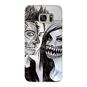 Unicovers Cute Zombie Couple Back Case Cover for Galaxy S7