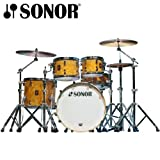 Sonor Newport Beech Matte Walnut Vaneer 4-Piece Shell Pack