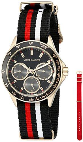 Vince Camuto VC/5250SLST - Reloj para mujeres, correa de nailon color negro